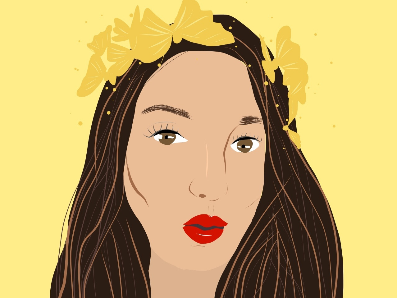 Self Portrait portrait illustration portrait art illustration logo self portrait woman illustration procreate app procreate digital illustration digital illustrations digital drawing drawing adobe draw adobe illustrator draw adobe illustrator women in illustration women who draw illustration