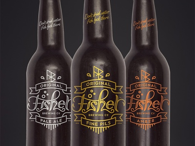 Fisher Brewing Co package label logo beer