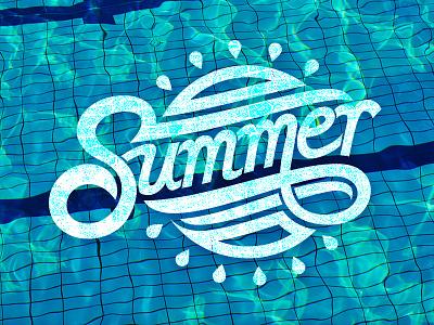 Summer Dribbble typography script hand lettering summer