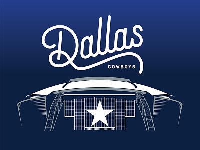 For Cowboys Fans illustration stadium nfl dallas