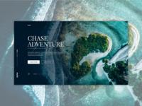Travel Website Landing Page Design