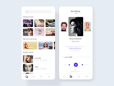 Music Player app concept web music player ui music player app music player mobile app design mobile app mobile ui uxdesign uidesign ux uxui design app ui