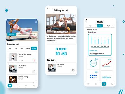 Fitness app uxui uxdesign uidesign mobile ui mobile app design mobile app design app ux ui