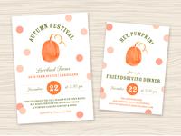 Fall Event Invite & Flyer Templates