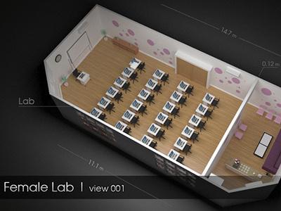 Education Lab vray max design 3d