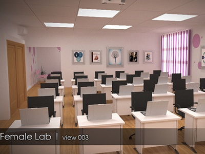 Education Lab (3D view) design vray max 3d