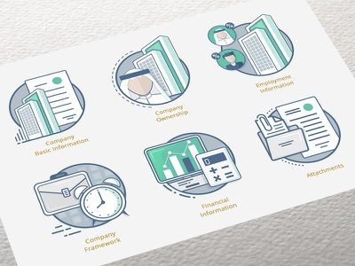 New system - Pages icons arab page graphicdesign flaticon blue mark identity company logo 2d animation graphic webdesign system green colors artwork illustraion icon flat