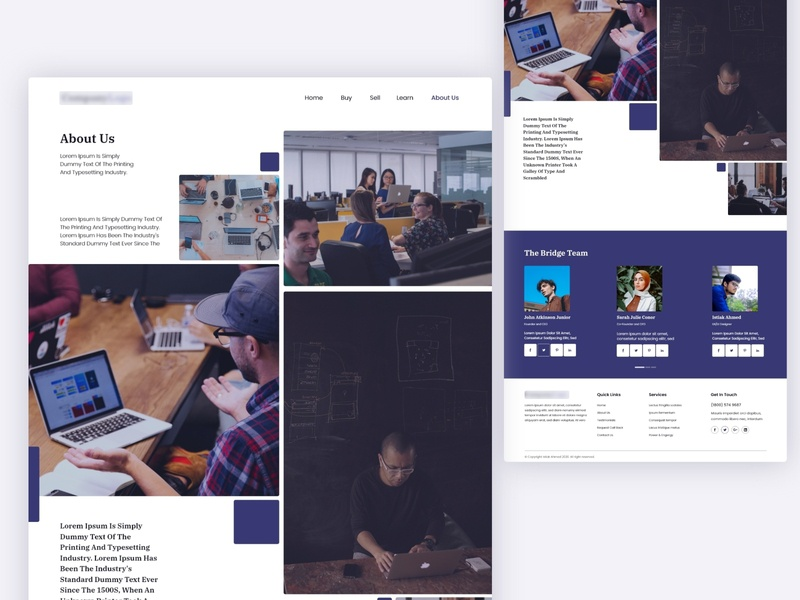 About Us screen design concept ux calming clam website trendy trend minimal clean ui ui website typography design layout teammembers team page about aboutus
