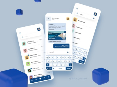 Messaging / Chatting screen chatting option voice messages android ux users ui minimal messeger messaging app messaging message ios message interface dribbble best shot design floating button contacts design chat app chat app trendy trend