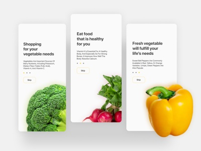 Onboarding design for Grocery App grocery grocery app vector ux ui typography splash screen onboarding ui onboarding screens onboarding minimal logo introduction intro illustrator illustration identity icon flat design
