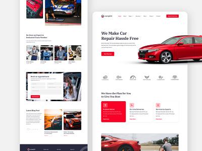 Car/Automobile  Maintenance automobile auto ar dealership automotive design automobil repair car trend trendy flat website landing landing page car automotive repair