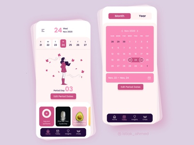 Medical Mobile App - Pregnancy time Period trendy period pregnecy clinic hospital medicine patients patient app doctor appointment doctor app health app healthcare health medical medical app medical design medical care mobile app mobile design mobile app design