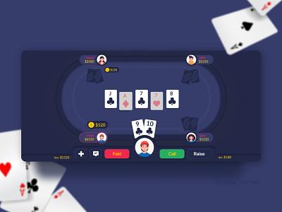 Online Poker Casino App ui ux user interface user experience mobile app app design application user interface design design casino poker card online game ui design mobile app design online casino card game design ui deisgn ui ux interface