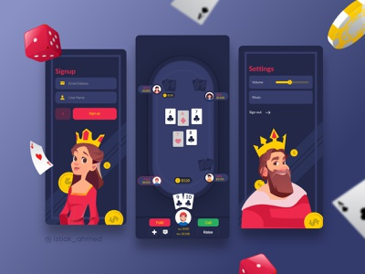 Poker Game ui ux user interface user experience mobile app app design application user interface design design casino poker card online game ui design mobile app design online casino card game design ui deisgn ui ux interface