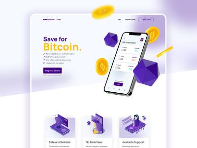 Crypto Investment Wallet startup fintech finance bitcoinsc crypto crypto wallet cryptocurrency bitcoin digital wallet app design exploration wallet mining ui