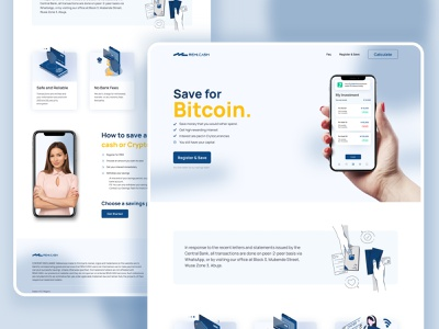 Cryptocurrency Investment Wallet ux clean simple landing page website design web design homepage header bank credit card card finance crypto cryptocurrency crypto wallet exchange stock currency money