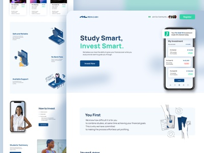 Cryptocurrency Investment Wallet - Concept 3 nigeria clean simple landing page website design web design homepage header bank credit card card finance crypto cryptocurrency crypto wallet exchange stock currency money