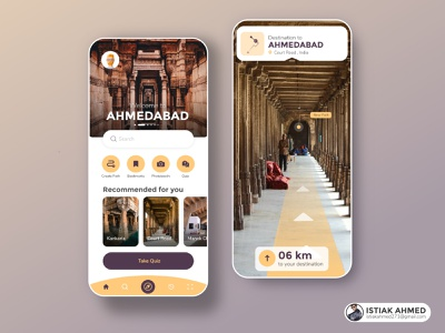 AR Travel Guide App location ar app trip ar mobile exploration clean maps vr map destination place light city design app