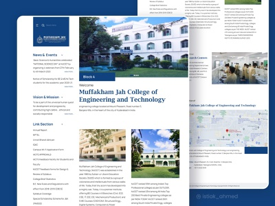College Landing page || Redesign clean ui ux website homepage learning lesson study courses platform online student e-learning teaching education educate school college class