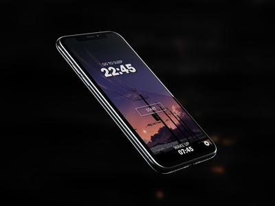 Mobile alarm screen mobile UI/UX design