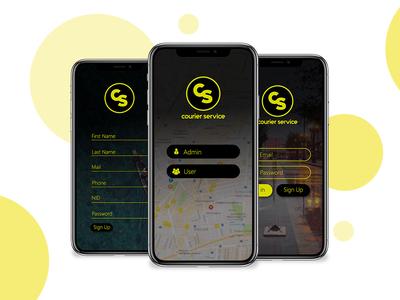 courier Service - UI/UX design concept