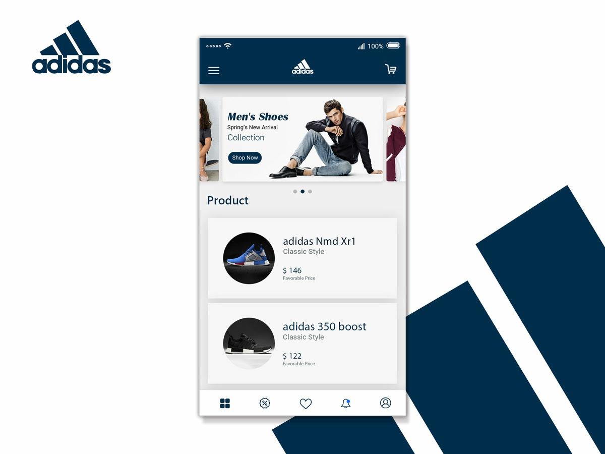 62d2d909bc2e E-commerce App Interface for Adidas by Istiak Ahmed