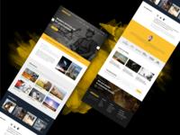 Factory & Industrial website design