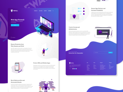 Security Services Website -WAF delivery bots block portect mobile ddos branding app typography cool gateway service app fairwall website ui  ux ui web service security waf