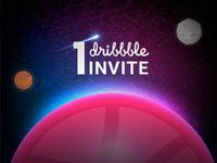 Dribbble invites - Galaxy concept