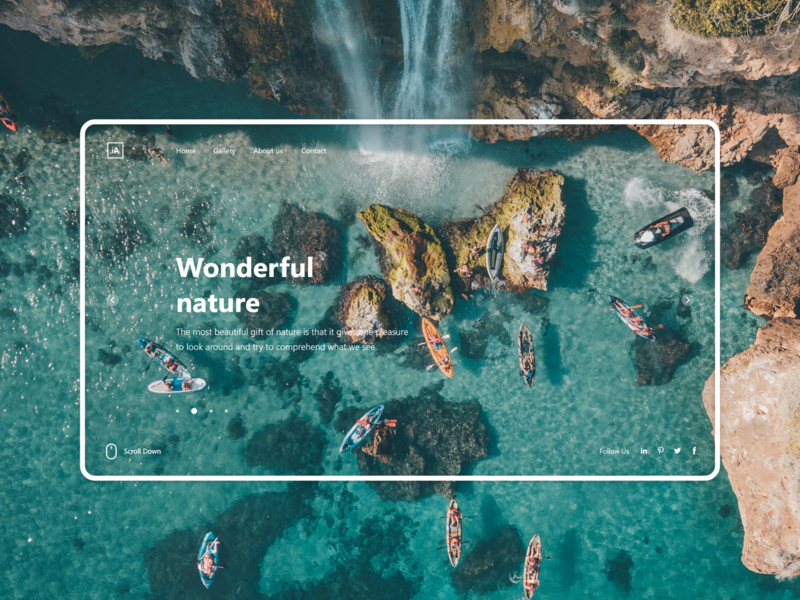 Nature Landing Page design concept tranding documentary national geographic documentary user experience design simple uiux design website wonderful nature ui ux nature photography landing page web ui weather sea landingpage nature
