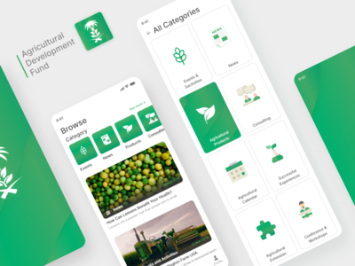 Agriculture modern mobile UI UX design