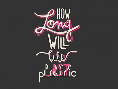 How long will we last? waste environment plastic graphicdesign dribbble poster design grain vintage psd first firstpost firstshot typography art handlettering typography handletters handletter poster illustration design
