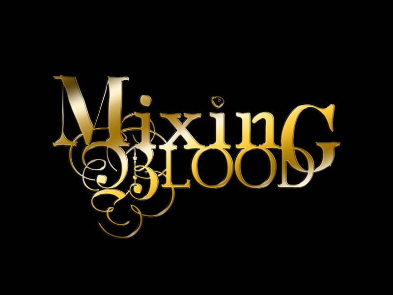 Mixing Blood Logo wordmark gold vector wacom blood book typography illustrator photoshop branding digital art illustration design logo
