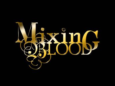 Mixing Blood Logo wordmark gold vector wacom blood book typography illustrator photoshop branding digital art illustration design logo