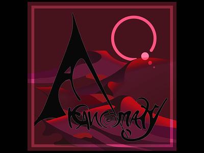 Arcanomaly Album Cover metal debutalbum newmusic2020 surreal desert red mars cover art album cover album art branding illustrator vector typography digital art illustration design
