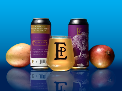 Eden Beer Can design artwork tree photoshop digital packaging branding beer can beer art illustration