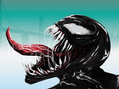 Venom Head wearevenom graphic  design poster art fanart venom illustrator photoshop digitaldrawing digital drawing art design illustration