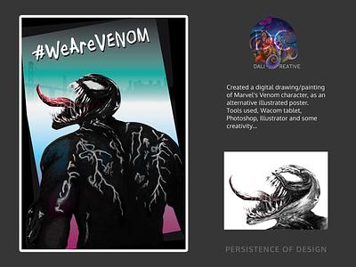 Venom Poster vector wearevenom venom movie poster poster design digitalpainting illustrator photoshop art drawing digital design illustration