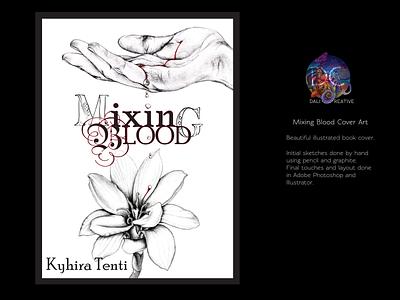 Mixing Blood Cover Art adobe illustrator book cover design book cover art typography digital drawing design illustration