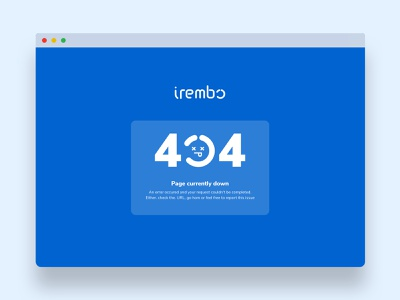 404 Page design system ui uidesigner uidesign uiux citizen platform digital smart tech it africa development blue clean flat gradient