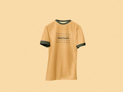 Inkotanyi Yellow Tshirt military army minimalist flat design tshirt kigali rwanda