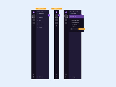 Dashboard sidebar design system