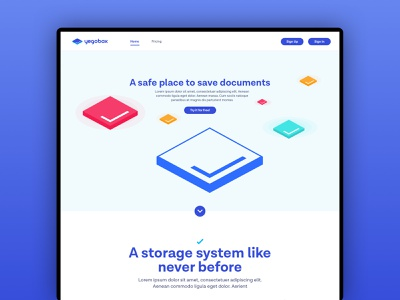 Landing page preview design system