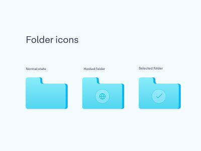 Folder icons design system