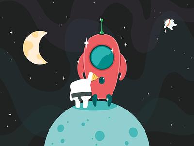 Spaceship illustration casumo spaceship space