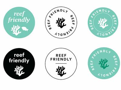 Reef Safe Logos for WFM vector illustration branding typography logo