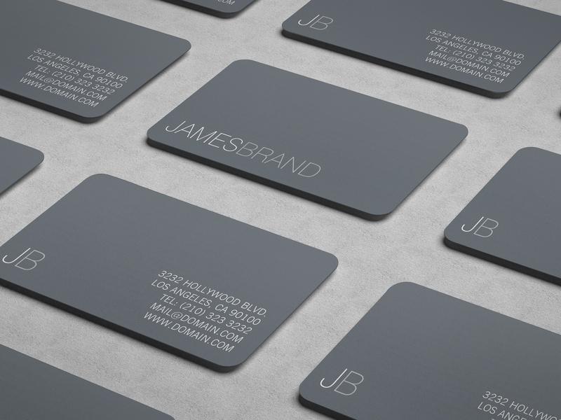 Elegant Minimalist Busines Card design initials print on demand template business cards grey minimalist design thin font branding minimalist