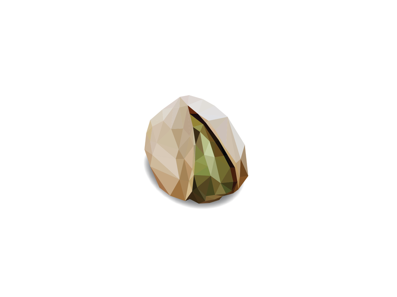 Pistachios crack me up lowpoly illustration food puns pun lowpolyart nutshell nuts pistachio design