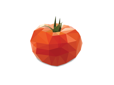 Whether it's a tomāto or tomăto, it better ketchup tomato fruit food pun lowpolyart design illustration lowpoly