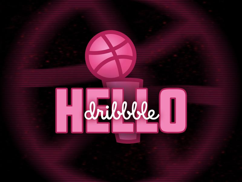 Hello Dribbble sports nba finals debut dribbble invite dribbble